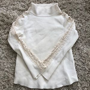Knitted & knotted by Anthropologie ivory sweater S